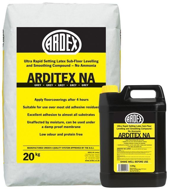 Arditex NA Levelling and Smoothing Compound: £21.30 + Vat | Oakleigh Flooring