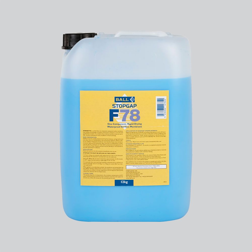 F Ball Stopgap F78 12kg Waterproof Surface Membrane