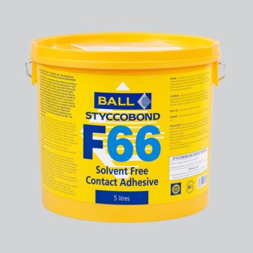 F Ball Styccobond F66 5 Ltr Solvent Free Contact Adhesive