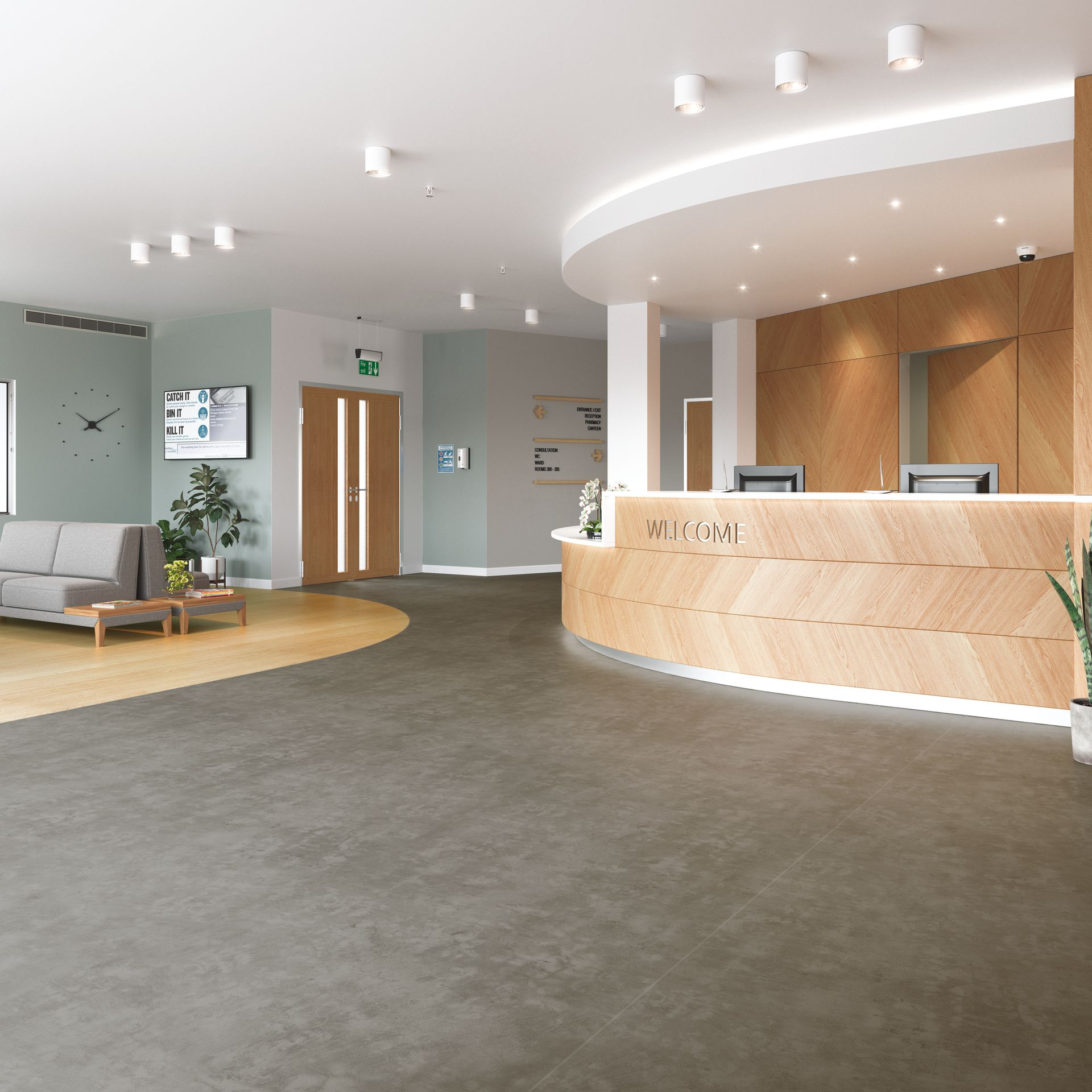 Polysafe Stone fx Safety Flooring